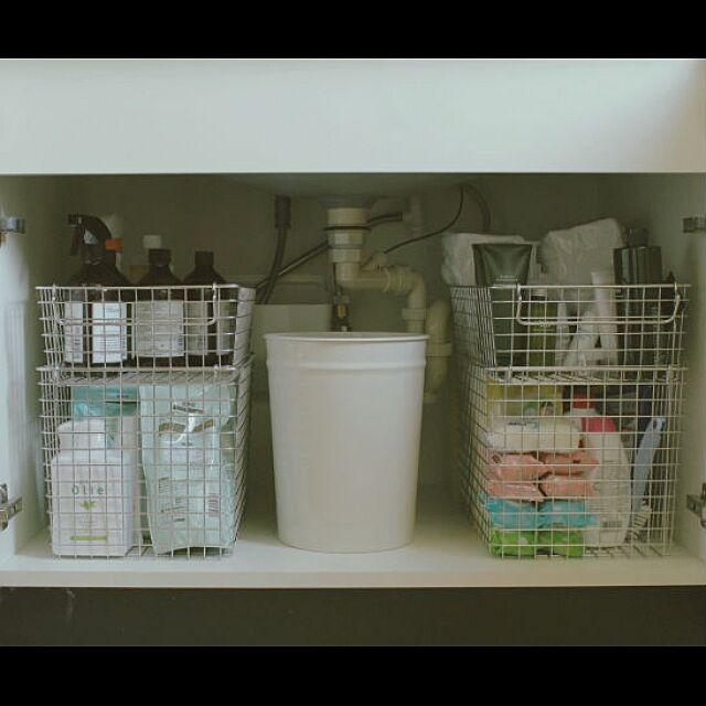 Bathroom,無印良品,洗面台下収納,ストック,中川政七商店,ゴミ箱,収納 kurumin5の部屋