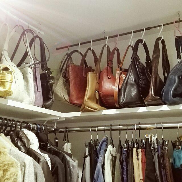 My Shelf,クローゼット,ひとり暮らし,一人暮らし,賃貸マンション,ミックスインテリア,1K,ウォークインクローゼット maiの部屋