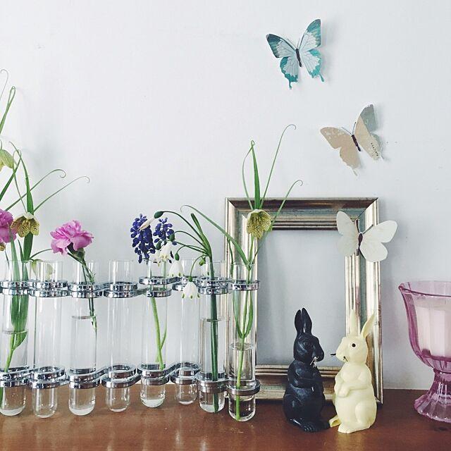 My Shelf,ウサギ,フラワーベース,IKEA,フライングタイガーコペンハーゲン,ダルトン,花のある暮らし,カフェ風,ナチュラルインテリア,おうち時間,グリーンのある暮らし,こどもと暮らす,春インテリア nicoの部屋