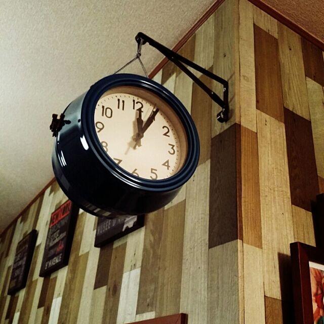 Lounge,セリア,ニトリ,ダイソー,時計,正確にはダイニング,両面時計 nuku-nuku.の部屋
