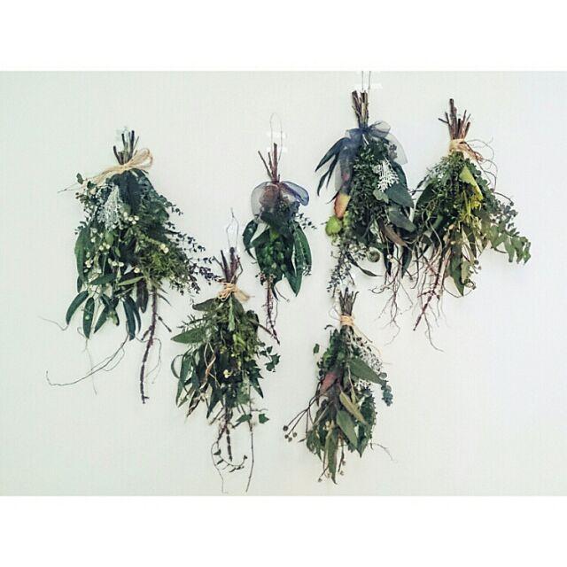 On Walls,ハンドメイド,塗り壁,タイセイホーム♡,漆喰壁,スワッグ,ワークショップ,花や草青む jojomisanの部屋