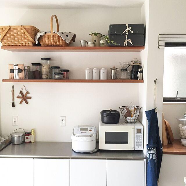 Kitchen,コシャー箱,foundmuji,電子レンジ,無印良品,Muji,storage,シンプルライフ,収納,green,北欧 minの部屋