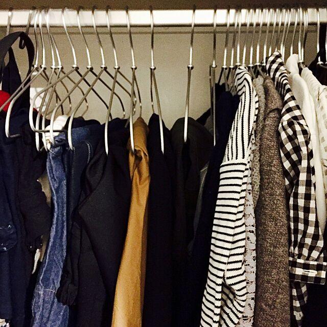 My Shelf,クローゼット,ハンガー,無印良品 nuiの部屋