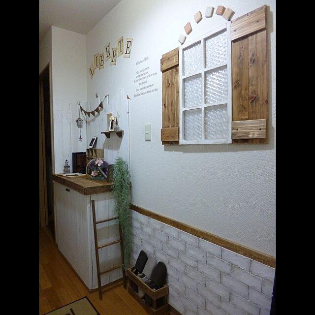 Entrance,賃貸,壁紙屋本舗,発泡スチロール レンガ,いなざうする屋さん,いなざうるす屋さん sumoの部屋
