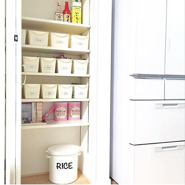 Kitchen,キッチン収納,100均,米びつ,ライスストッカー,パントリー,暮らしの愛用品,ホワイト,シンプル,マイホーム,整理収納アドバイザー,整理収納部,収納,収納ボックス yu-rinの部屋