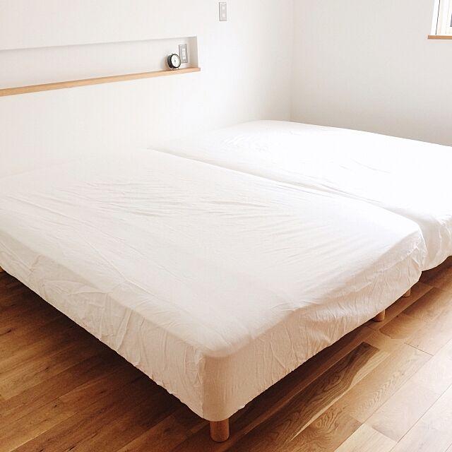 Bedroom,マットレスベッド,ベッドルーム,寝室,無印良品ベッド,ベッド sakitosouの部屋