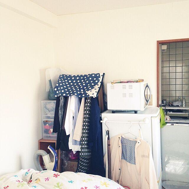 無印良品,ポリプロピレンケース,オーク材コートハンガー,四畳半,4畳半,Overview kokekoの部屋