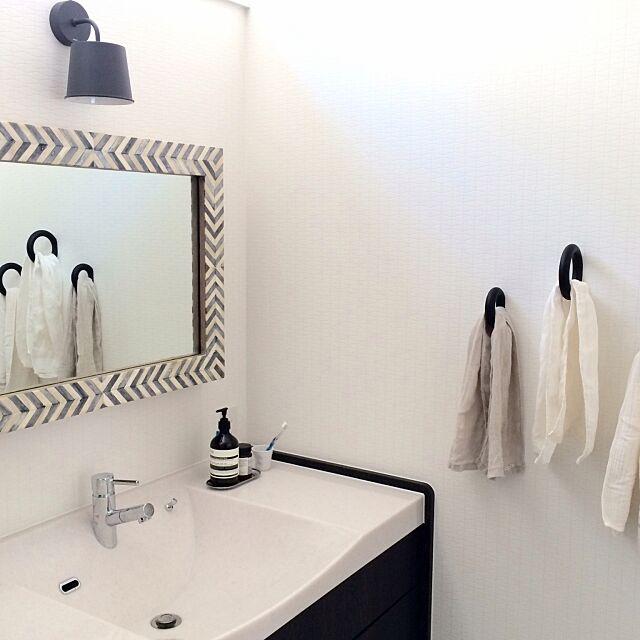 Bathroom,HAY,タオルハンガー,ラシス,洗面所,洗面台,洗面鏡,West Elm 0136の部屋