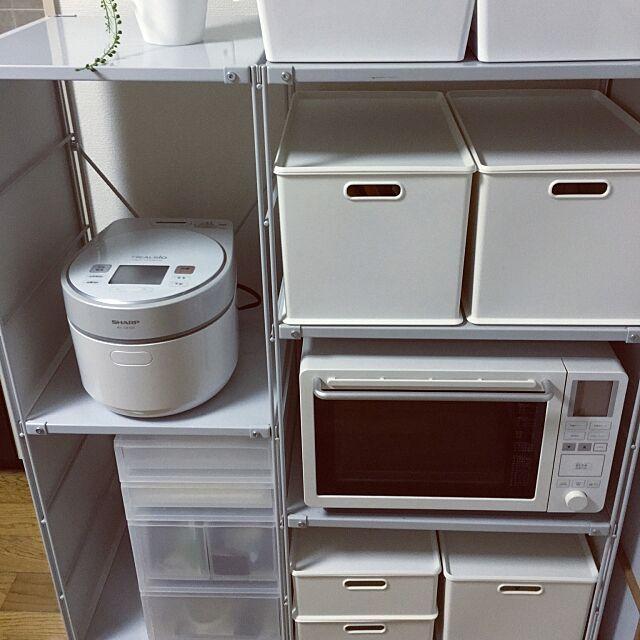 Kitchen,スチールユニットシェルフ,インボックス,ニトリ,IKEAのケース,kuggis Naoyaの部屋