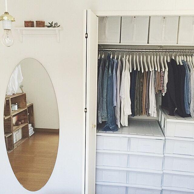Bedroom,整理収納部,収納,断捨離,IKEA,クローゼット asamiの部屋