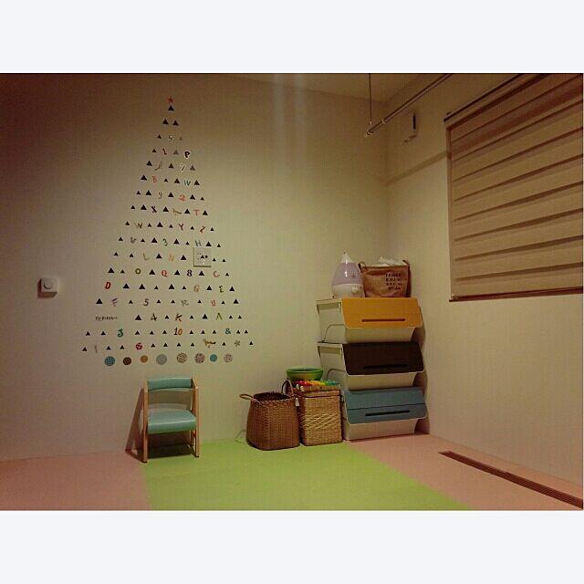 On Walls,クリスマス,RC北海道支部,キッズスペース,ウォールステッカー,地味に変化中,RC北海道道東支部,squ+,squ+ウォールステッカー,クリスマスツリーもどき!,安全第一,こどもと暮らす。,犬のいる暮らし,タンスのゲン Akaneの部屋