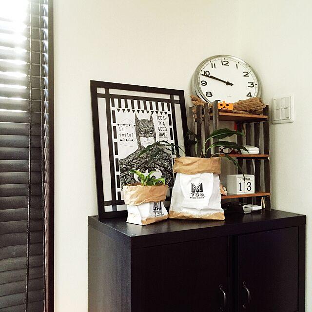 Lounge,米袋リメイク,DIY,100均,ハンドメイド,IKEA,観葉植物,3Coins 7-5の部屋