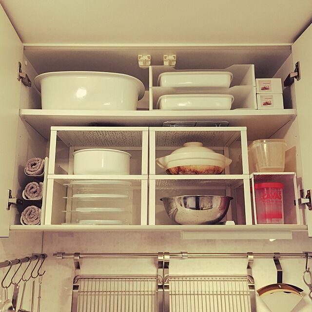 Kitchen,収納見直し,収納アイデア,つり戸棚,キッチン収納,中古を買ってリノベーション,野田琺瑯 rubbertreeの部屋