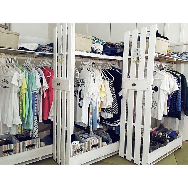 My Shelf,すのこ棚,すのこリメイク,すのこ,収納アイデア,DIY,子供服収納,収納できる衣類収納,衣類収納,DIY棚 emimekkoの部屋