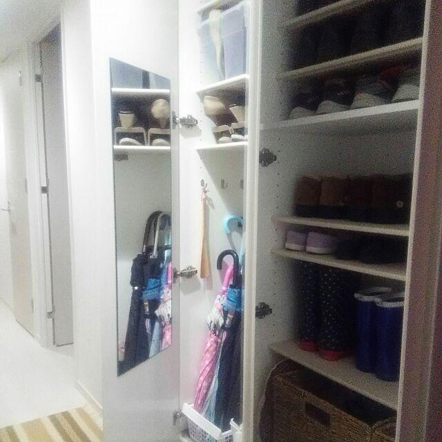 ダイソー,玄関♡,狭いですが^^;,靴収納♡ flannel.の部屋