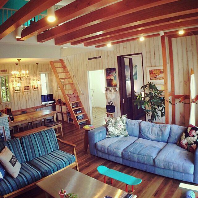 Lounge,カリフォルニアスタイル,デニムソファ,バウアーポッタリー,デニムソファー,サーフボード,WTW,ロンハーマン,ronherman,ソファ SWNCTの部屋