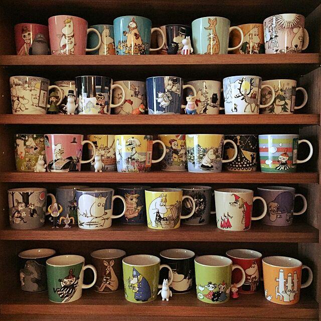My Shelf,アラビアムーミンマグ,賃貸,ACTAS,北欧,ムーミン mitsの部屋