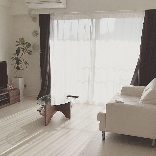 Lounge,白い床,カーテン,noceソファ,noce,ナチュラル,北欧 mmmの部屋
