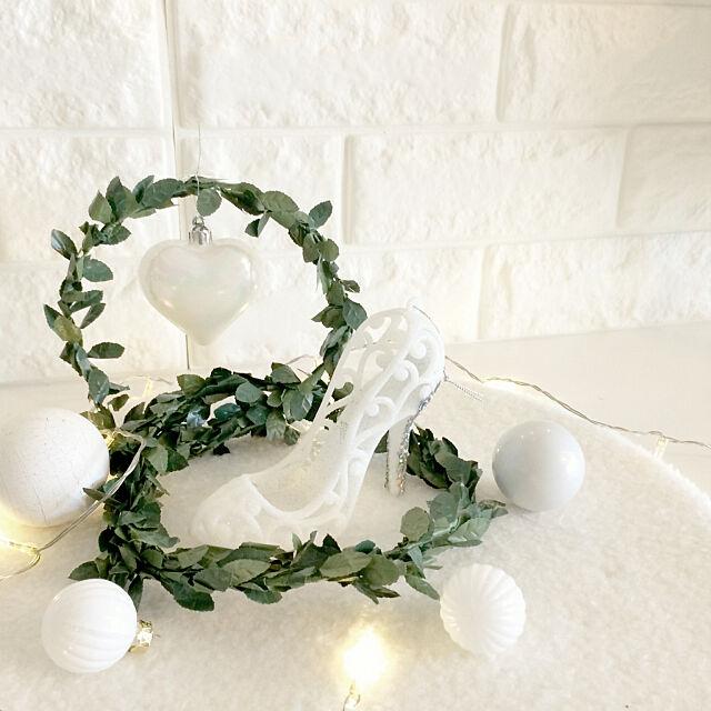 My Shelf,オーナメント,娘はプリンセス系がお好き♡,クリスマスディスプレイ,ありがとうございました♡,ニトリの新商品,ニトリクリスマスワークショップ,ハンドメイド,DIY,ディスプレイ,ニトリ,クリスマス,ホワイトインテリア,マンションインテリア kiyoの部屋
