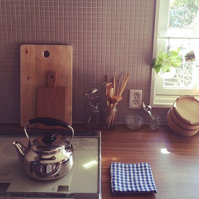 Kitchen,植物,雑貨,IKEA,柳宗理 ケトル,fogクロス naonaoの部屋
