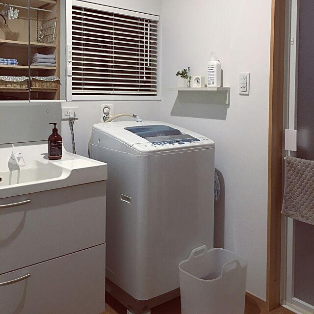 Bathroom,洗面・脱衣所,洗濯機,無印良品 haruの部屋