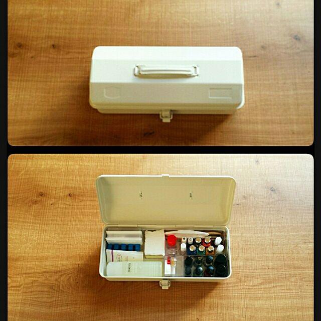 My Desk,無印良品,FOUND MUJI,スチール工具箱,ネイル用品 収納 Materの部屋