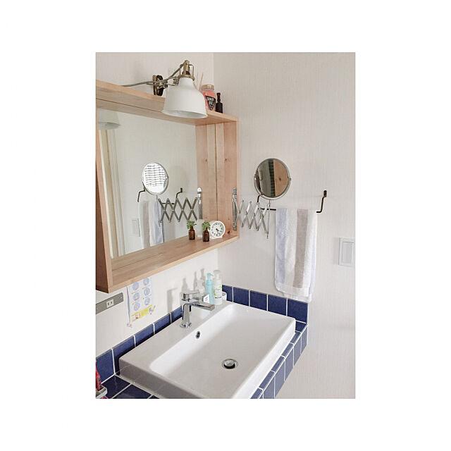 ホームコーディー,モニター,ランドリーグッズ,HOME COORDY,中古一戸建て,中古住宅,リノベーション,中古を買ってリノベーション,ヴィンテージ風,洗面所,Bathroom,造作洗面台,タイル貼り yanの部屋