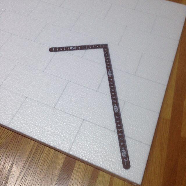 Kitchen,発泡スチロールのレンガ壁,キッチンではありません…,DIY masu...の部屋