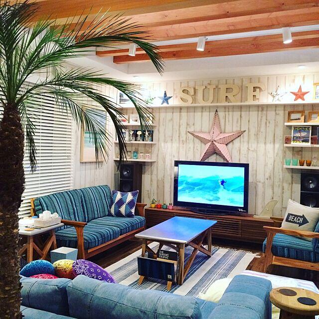 Lounge,デニムソファ,バウアーポッタリー,デニムソファー,ソファ,WTW,ロンハーマン,西海岸,ronherman,カリフォルニアスタイル SWNCTの部屋
