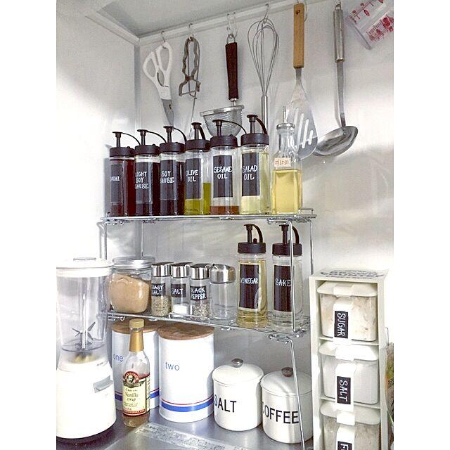 Kitchen,スパイスラック,キャニスター,オイルボトル,キッチン,一人暮らし,ワンルーム,natural kitchen,ハンドメイド,coucou,DIY Chisatoの部屋