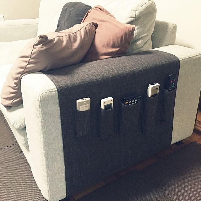 Lounge,リモコン置き場,ハンドメイド,男前,ソファ haruの部屋