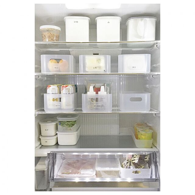 Kitchen,整理整頓,収納,シンプルライフ,シンプル,冷蔵庫,無印良品,セリア _____koz.の部屋