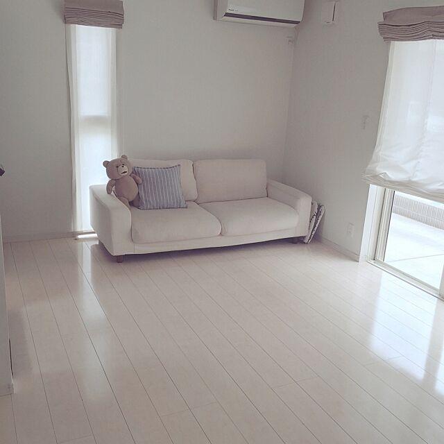 Overview,ミニマム,シンプル,ローマンシェード,無印良品 ソファ,無印良品,子どもと暮らす,整理収納部 yanaの部屋