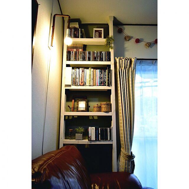 My Shelf,クリスマスインテリア,ディアウォール棚,レコード収納,狭小住宅,DIY,100均,収納DIY ,団地,収納,IKEA mokaの部屋