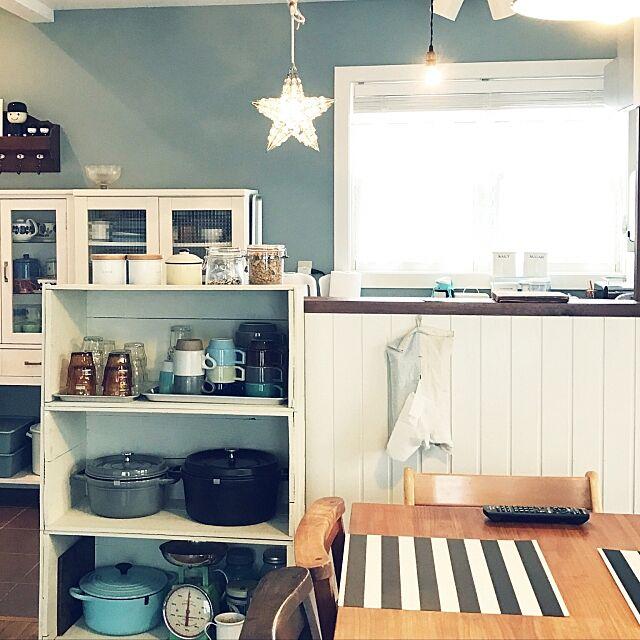 Lounge,カフェ風,ナチュラル,ル・クルーゼ,HASAMI (ハサミ),STAUB,IKEA nico429cafeの部屋