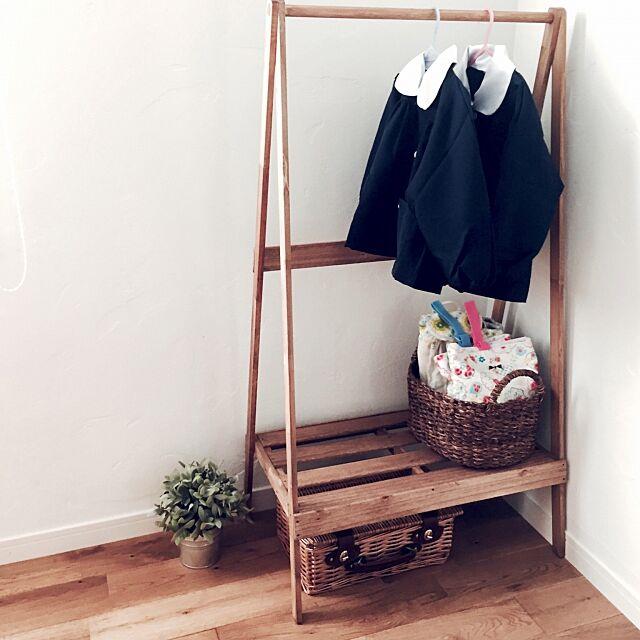 My Shelf,子供部屋,DIY,フェイク仲間☆,ハンガーラック,すのこ,上履き入れ,ワトコオイル,みんな体調不良 honomino73の部屋