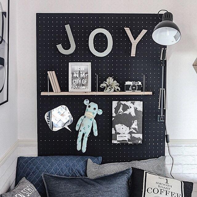 On Walls,ベッドヘッド,有孔ボード,子供部屋,セルフリノベーション,ウォールデコ,DIY yupinokoの部屋