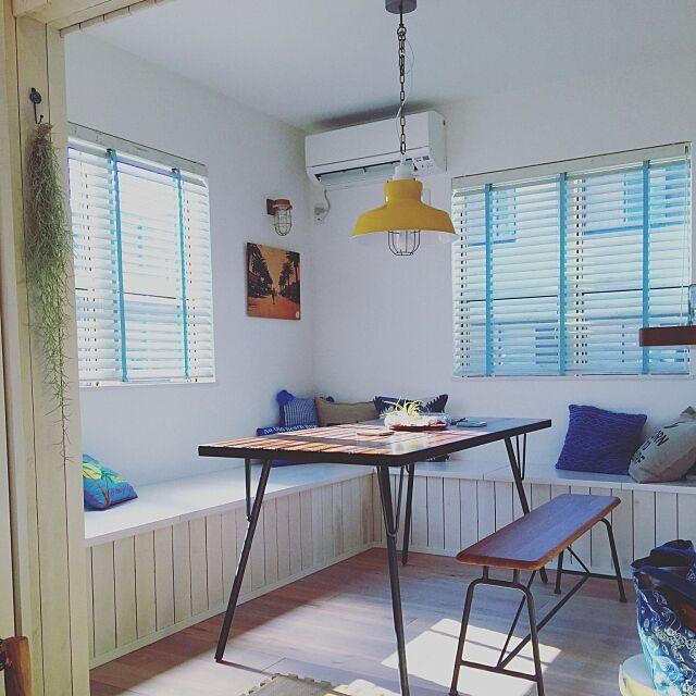 Lounge,サーファーズハウス,カリフォルニアスタイル,IKEA,観葉植物,照明,西海岸 anpirofamの部屋