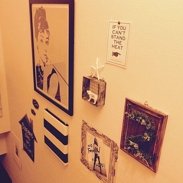 My Shelf,階段ギャラリー,ミックススタイル,DIY,セリア,ダイソー,IKEA,男前 painmomoの部屋