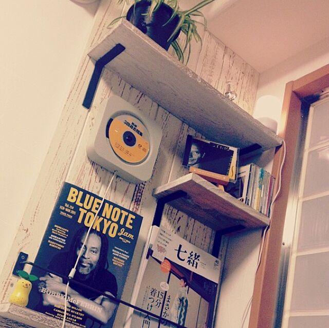 My Shelf,リノベーション,シャビー,アイアン,マンション,無印良品,無印CDプレイヤー yossanの部屋