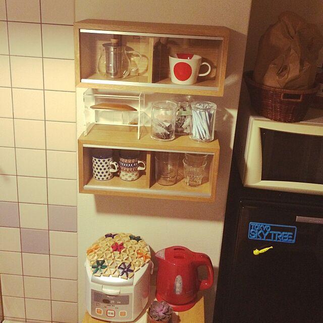 Kitchen,無印良品 壁に付けられる家具,無印良品,DIY,一人暮らし,多肉植物 shonkoの部屋