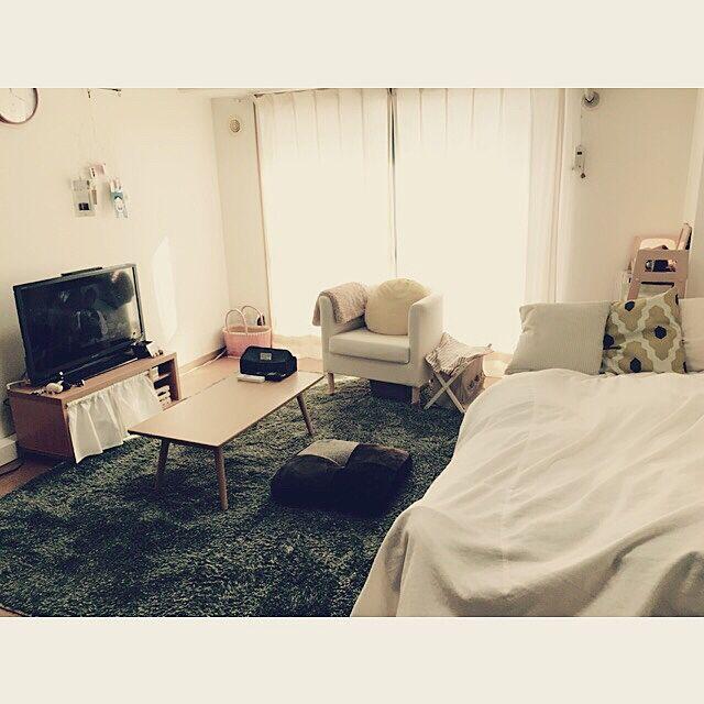 Overview,おんなのこ,1人暮らし 賃貸,狭い部屋 ,鹿児島,ワンルーム,一人暮らし,1人暮らし,独身,芝生ラグ,ひとり暮らし 1K,ニトリ flatの部屋