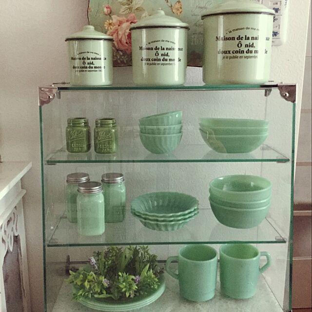 My Shelf,ガラスケース,キャニスター,サリュ,salut!,ファイヤーキング風,セリア,セリア新商品 mikittyの部屋