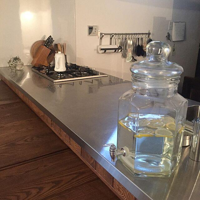 Kitchen,造作キッチン,ウォータージャグ romimushiの部屋