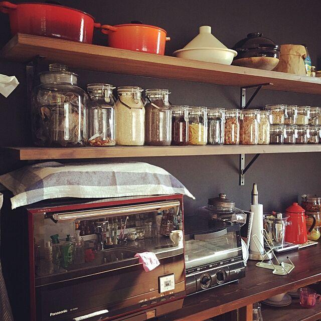 Kitchen,ガラスキャニスター,トースター,電子レンジ,かまどさん,Francfranc,LE CREUSET,キッチン家電,山善座談会,セラーメイト,RC群馬,見せる収納 ayakoの部屋