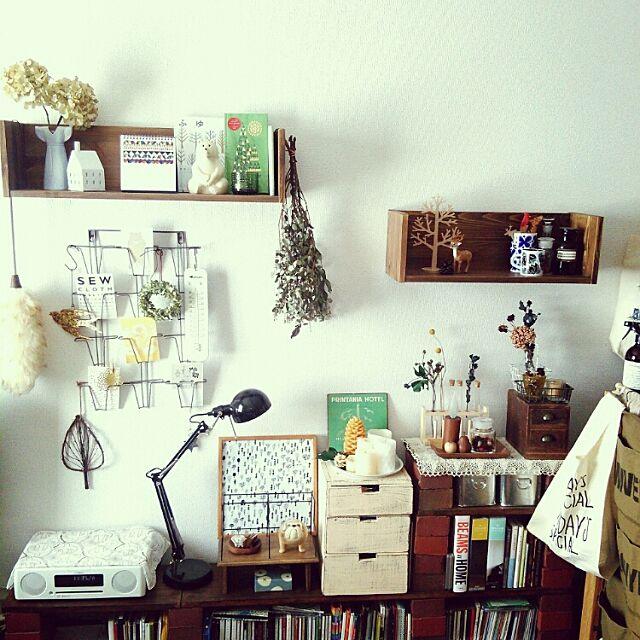 Lounge,ワンルーム,一人暮らし,マリメッコ,北欧雑貨,リサラーソン,ドライフラワー,IKEA,DIY,賃貸 rionの部屋