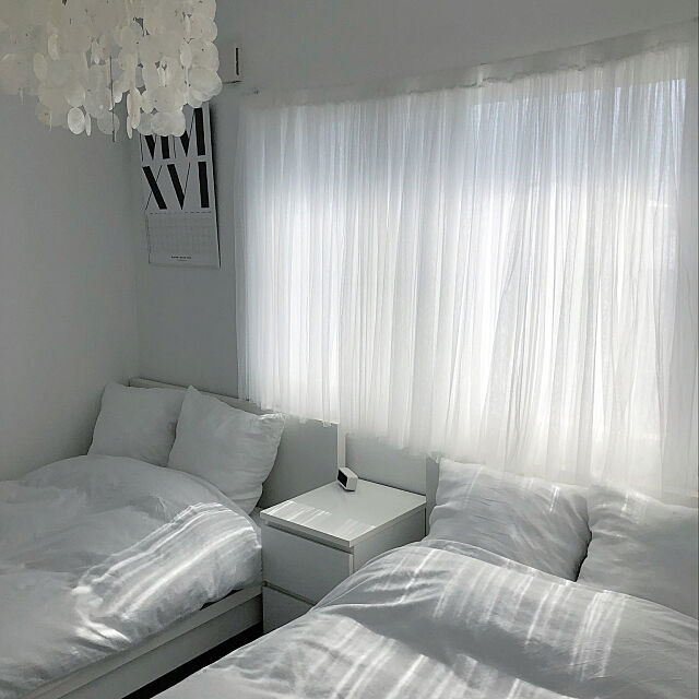 Bedroom,IKEAカーテン,IKEAベッドサイドテーブル,IKEAベッド,IKEA,ベッドルーム,シンプルモダン,ig→a.organize,ホワイトインテリア,モノトーンインテリア,スカンジナビアンモダン,北欧モノトーン,スカンジナビアンインテリア,シンプルモダンインテリア,シンプルライフ,アメブロ→A+organize,整理収納アドバイザー,北欧モダン,シンプルな暮らし,持たない暮らし,ミニマムインテリア,シンプルインテリア,インテリアコーディネーター a.organizeの部屋