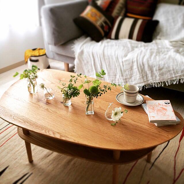 Lounge,Hiroshima,マルニ木工,北欧,rogoba,キリム,グリーンのある暮らし,ナチュラル Y.a.hの部屋