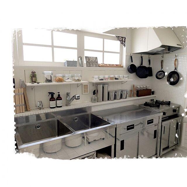 Kitchen,ステンレス製密封容器,無印良品,セラーメイト,業務用ステンレス作業台,Vamo.,リンナイ mocoの部屋