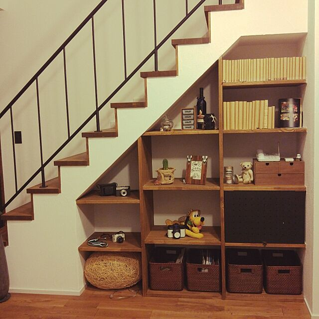 My Shelf,観葉植物,階段下,作り付け Ayaの部屋